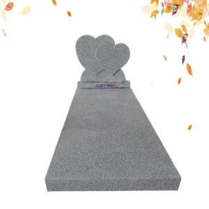 double heart shape tombstone