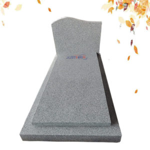 G603 grey granite headstone