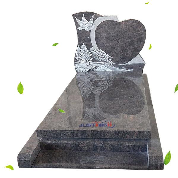 heart design headstone