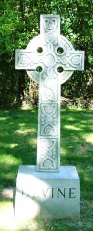 Celtic crosses headstone