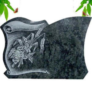 Green granite memorial plaque