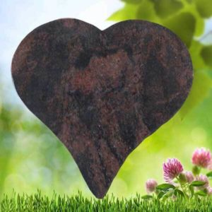 Heart shape memorial plaque