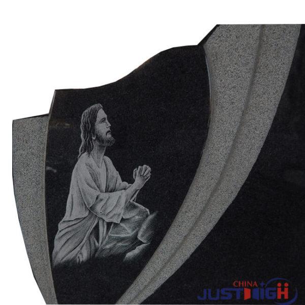 Jesus carved memorial headstone 2