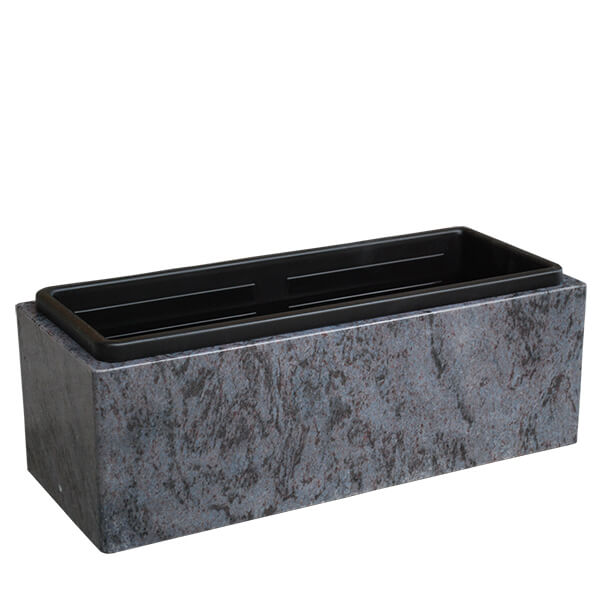 Rectangular granite flower pot