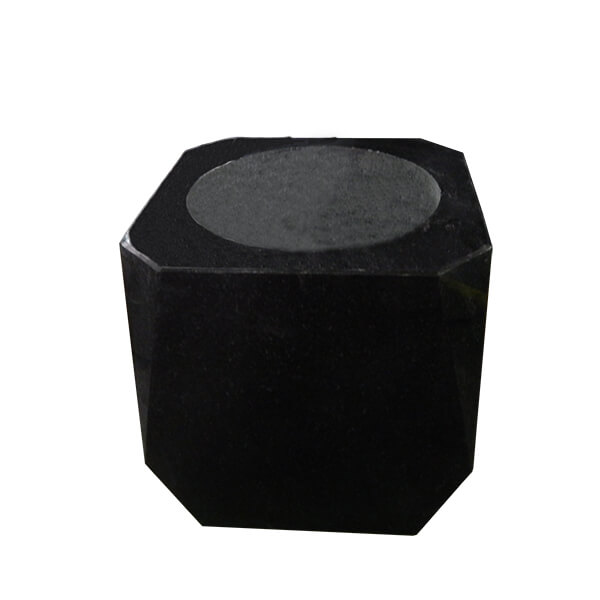black granite memorial vase
