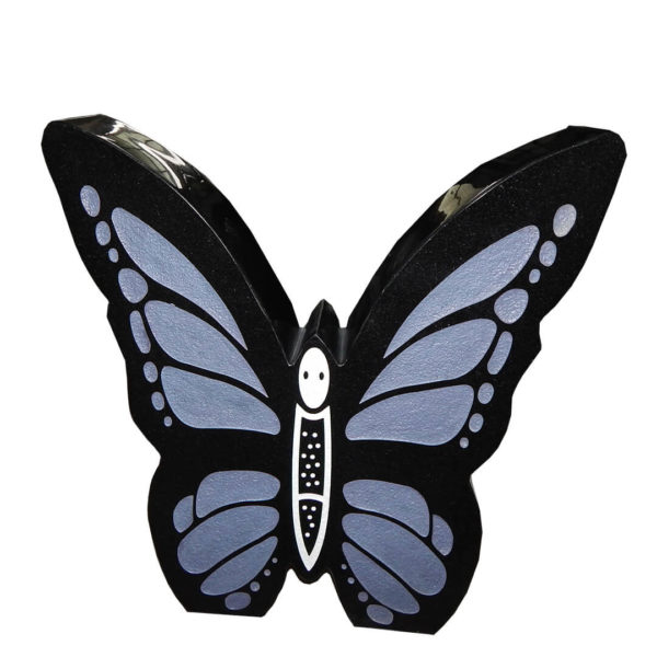 blue butterfly design for headstone