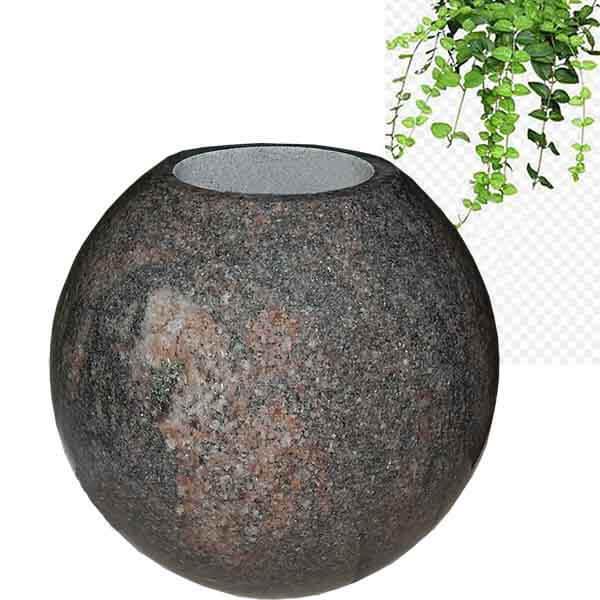 Round garden cemetery vase