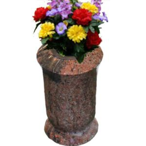 red granite vases