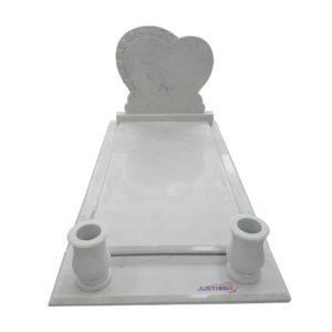 white heart headstone