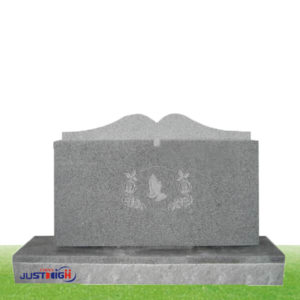granite headstones whth flower