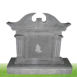 grey granite color upright headstone