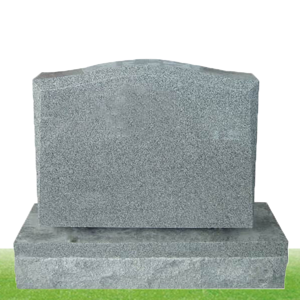 grey simple granite headstone design