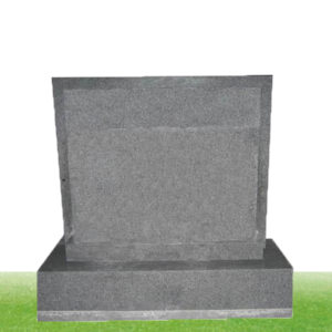 simple granite upright headstone