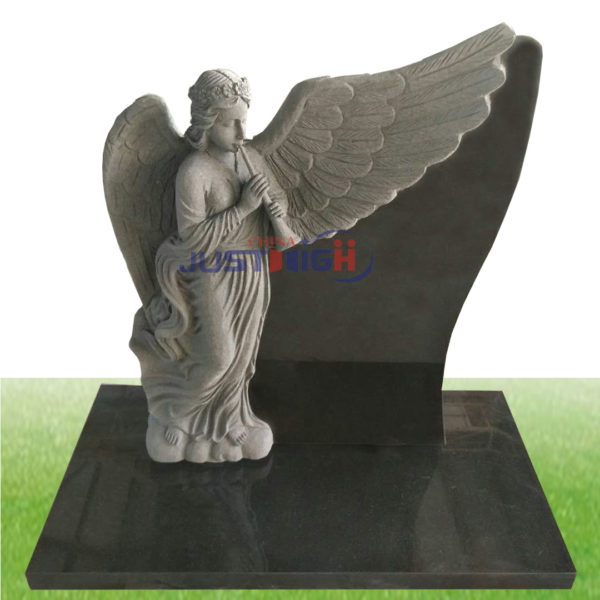 Angel carving headstone