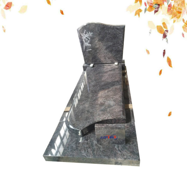 Bahama Blue single granite gravestone supplier
