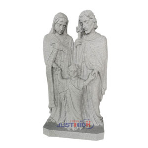 Grey Holy Family Sculptures Religious