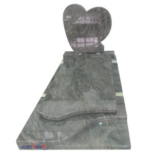 Heart shape granite headstone from china manufacturer