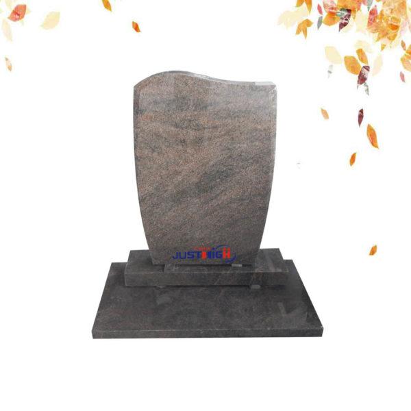 Himalaya Blue granite headstone