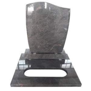 Himalaya Blue single granite headstone supplier