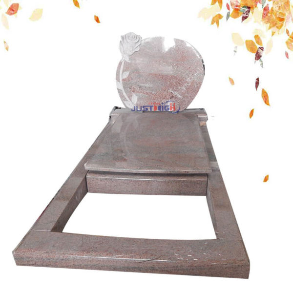 Rosa Pink flower carved granite headstone supplier