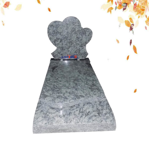 Vert Olive heart shape granite headstone supplier