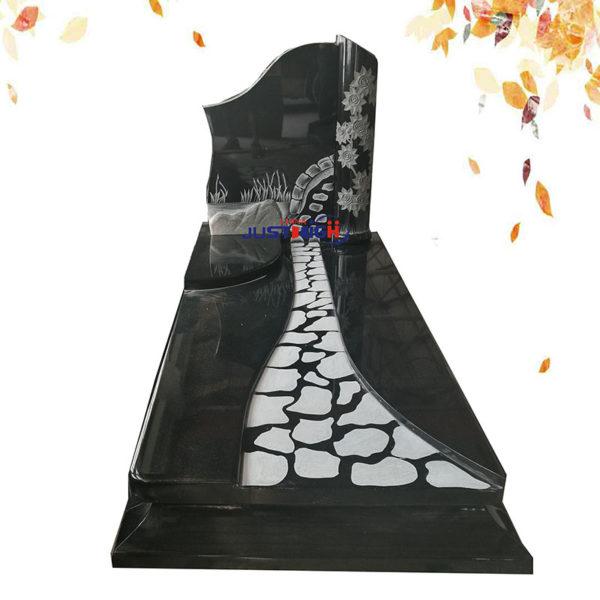 black headstone monument