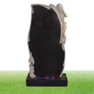 black tall granite headstone supplies
