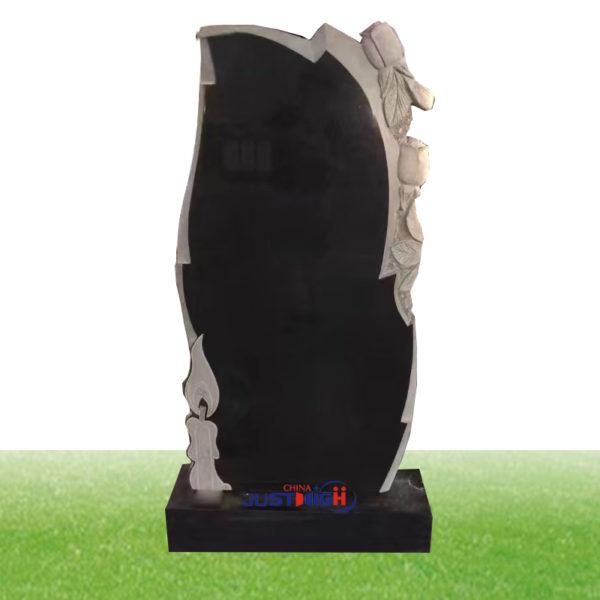 black tall granite headstone supplies