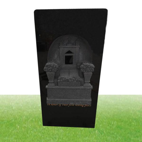 black tall granite tombstone wholesale