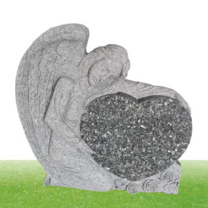 custom angel statue granite headstone wholesale