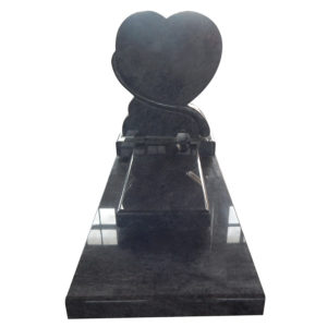 granite headstones louisiana heart shape