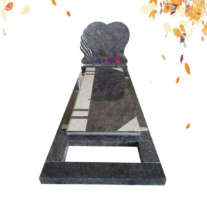 mass blue heart shape granite headstone
