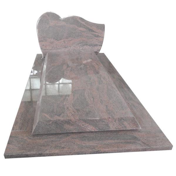 pink granite headstone