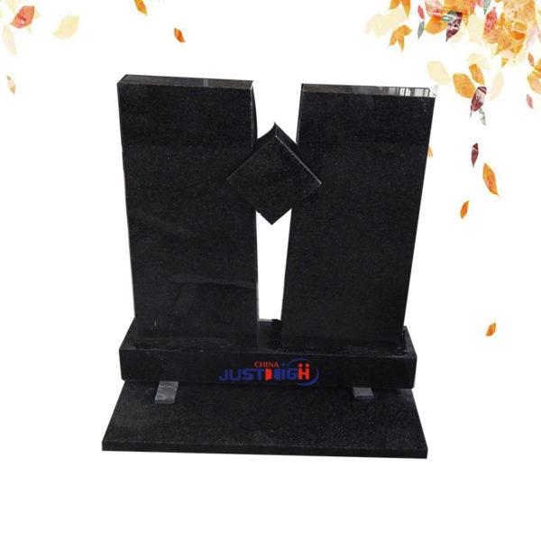 polished black granite headstone supplier