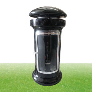polished black granite lantern
