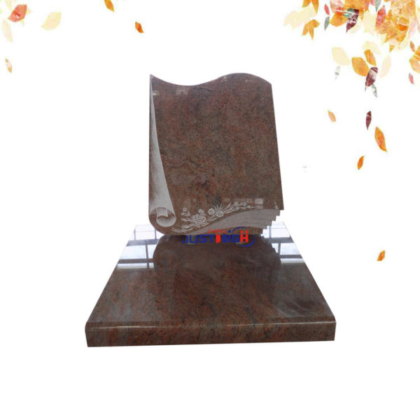 red color granite headstone