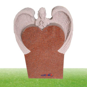 red tall granite headstone supplier