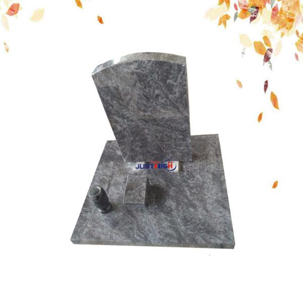 simple bahama blue granite headstone