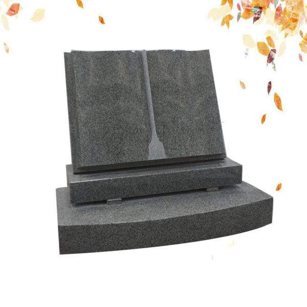 Book shape granite headstone