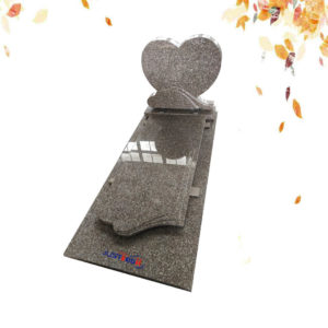 G635 heart shape granite headstone