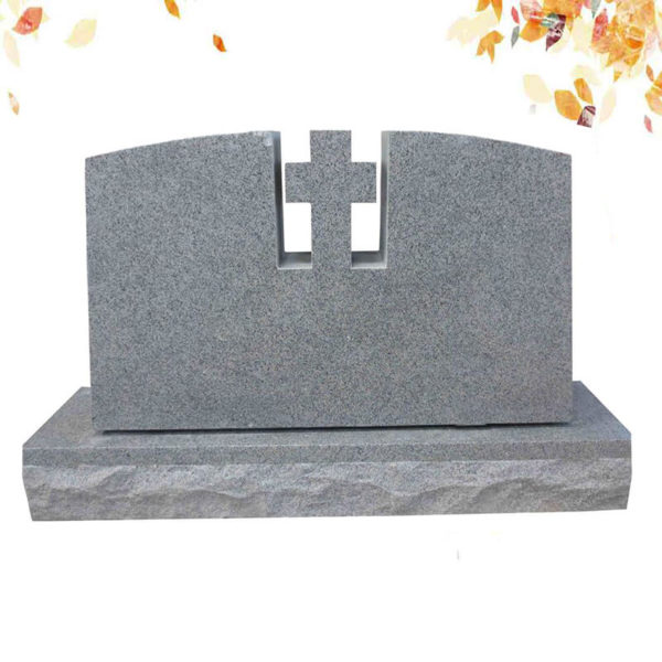 GREY granite cross headstone