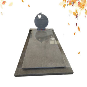 customization heart shape granite tombstone supplies