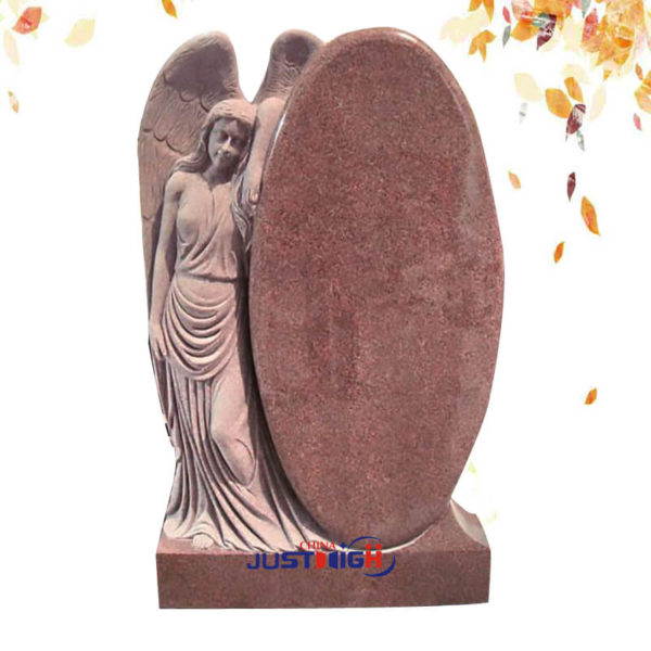 customize angel carved granite headstone wholesale