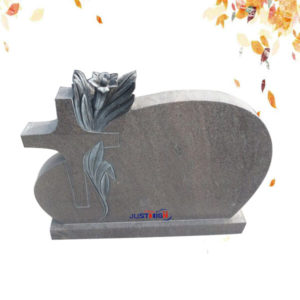 customize cross shape granite gravestone supplier