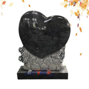 customize heart shape granite headstone supplier