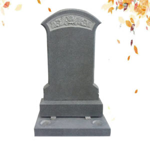 gray tall granite headstone supplier