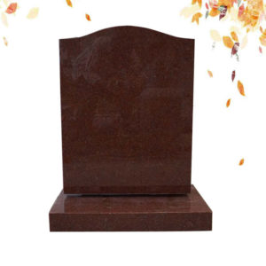 red simple granite headstone