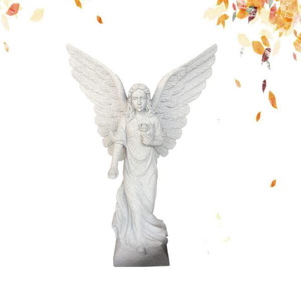 Granite angel statue,Grey