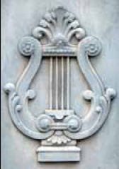 Lyre headstone
