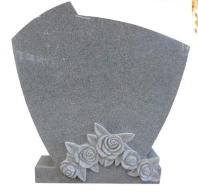 rose carving granite headstone tombstone